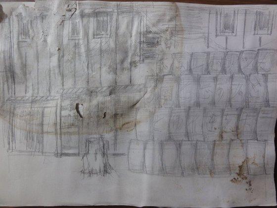 「ビール醸造所の開業」の作業絵?