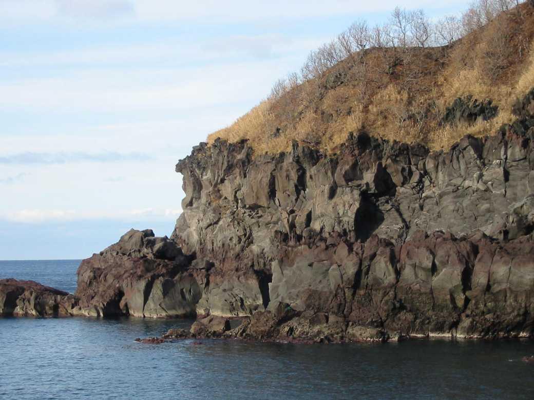 茂津多岬のハンマーヘッド