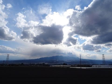 渋川、赤城山、榛名山