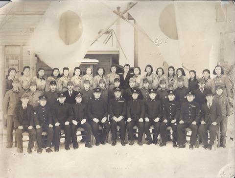 大湊軍港で働いていた母
