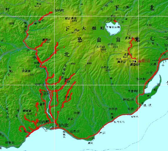 下北半島で歩き回った軌跡その1