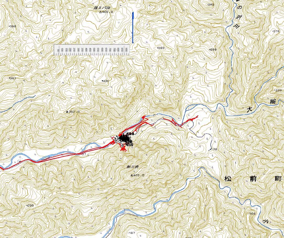 11月はじめに踏査した松前町の山