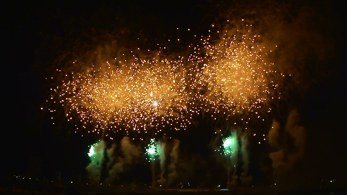足立区花火大会に行ってきました。