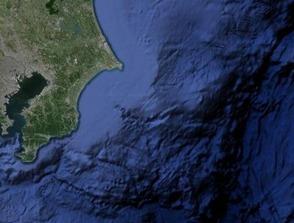 断層帯海底部