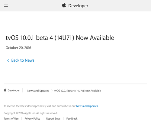 News and Updates - Apple Developer (20161021)