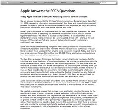 Apple Answers the FCC's Questions