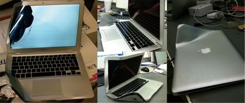 MacBook Air meets bus, bus wins