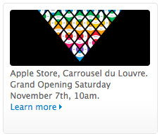 Apple Store, Carrousel du Louvre. Grand Opening