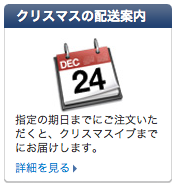 Apple Store クリスマスの配送案内