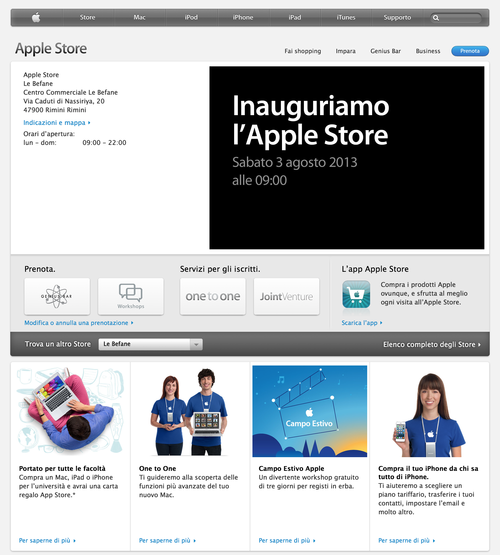 Apple Store - Le Befane (20130731)