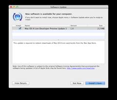 Mac OS X Lion Developer Preview Update 1