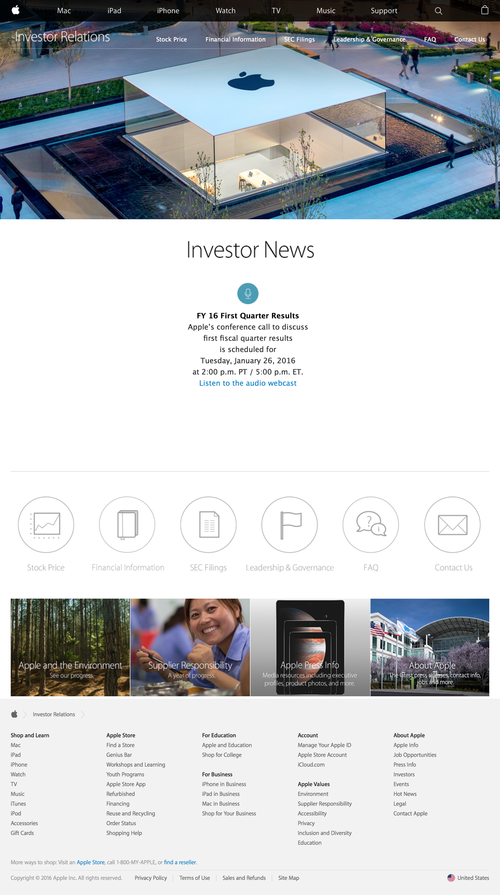 Apple - Investor Relations (20160105)