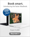 Book smart. Introducing the faster MacBook.