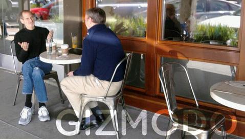 Steve Jobs and Eric Schmidt Giz
