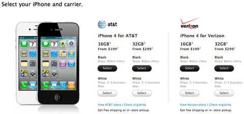 iPhone 4 for AT&T and Verizon - Apple Store (U.S.)