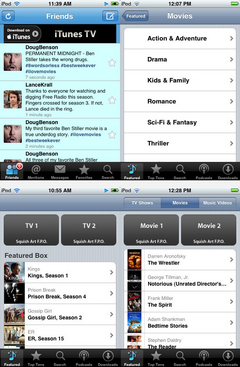 iPhone OS 3.0 Movie and TV downloads