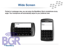 BlackBerry Storm 9500 and 9530
