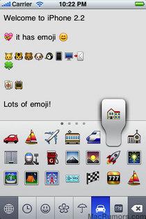 iPhone 2.2 絵文字