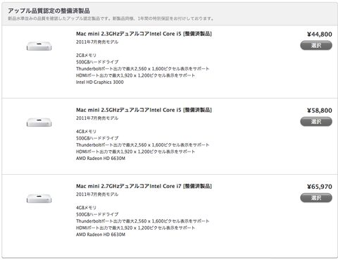 Mac mini - Apple Store (Japan) (20120229)