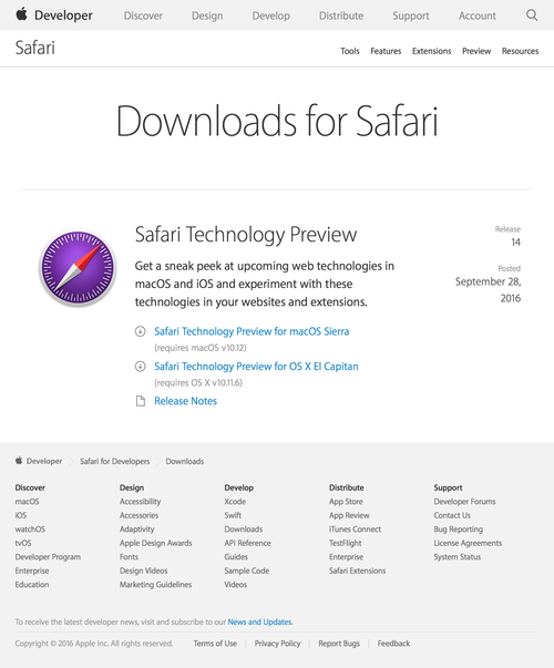 Safari - Downloads - Apple Developer (20160929)