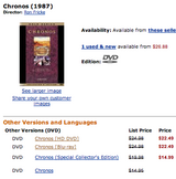 Amazon.com: Chronos: DVD: Ron Fricke