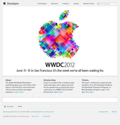 WWDC - Apple Developer (20120425)