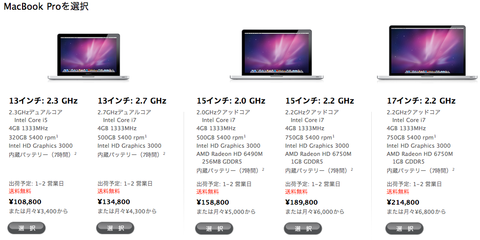 �ޥå��֥å��ץ� - MacBook Pro - Apple Store (Japan)