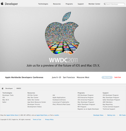 Apple Worldwide Developers Conference 2011 (20110329)