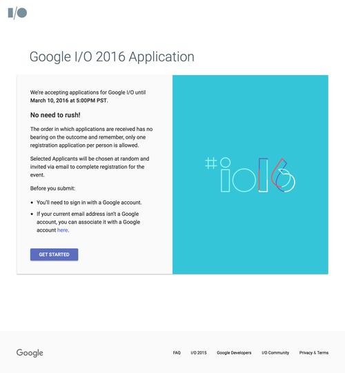 Google I-O 2016 Application (20160309)