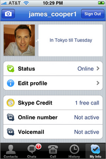Skype for iPhone Screen Shot 05