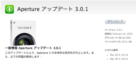 Aperture 3.0.1