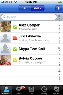 Skype for iPhone Screen Shot 01