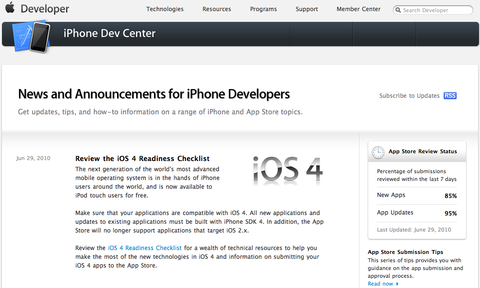 Review the iOS 4 Readiness Checklist