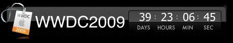 WWDC2009 Countdown Widget