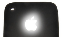 iPhone with Light Apple Logo