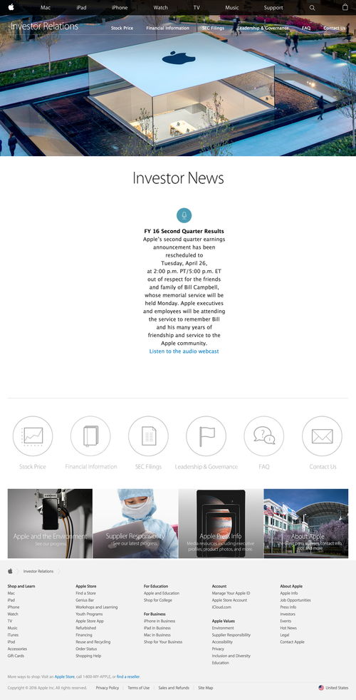 Apple - Investor Relations (20160421)