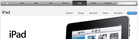 Apple - iPad navigation bar