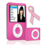 Pink ribbon iPod