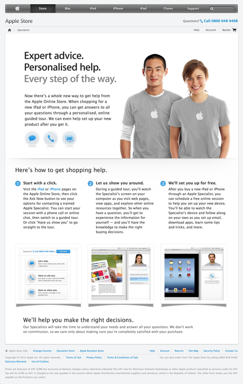 Apple Online Store Specialist - Apple Store (UK) (20120829)