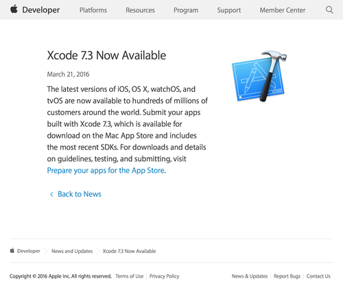 3 Now Available - News and Updates - Apple Developer (20160322)