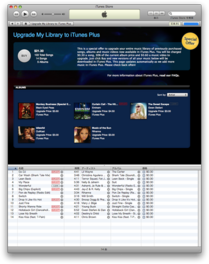 Upgrade to My Library (iTunes Plus) 2009/01/07