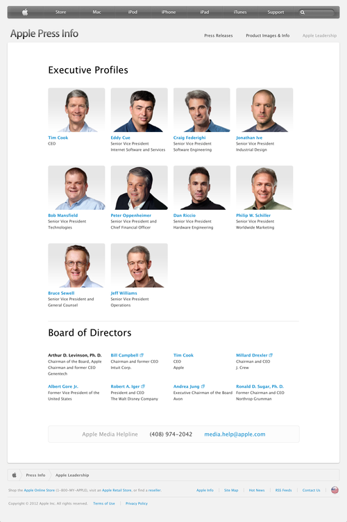 Apple - Press Info - Apple Leadership (20121030)