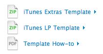 iTunes Extras Template/iTunes LP Template