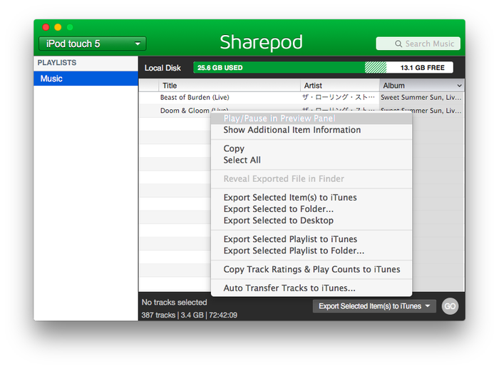 SharePod-Feature