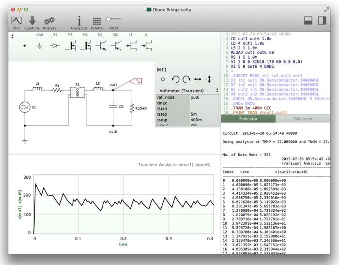 Macで使える回路シミュレータVolta Hero