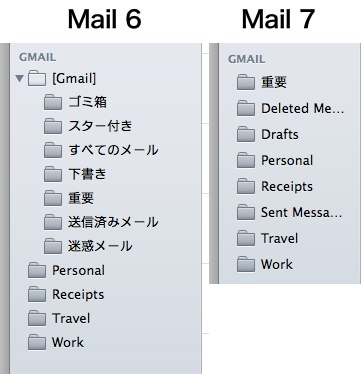 Mountain-LionとMavericksでのMail