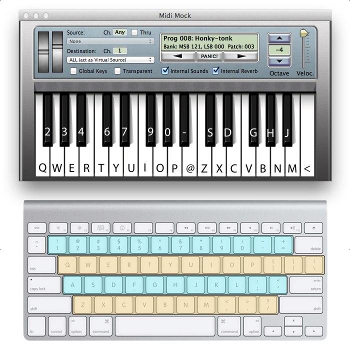 Midi-Mockのキーボード配列