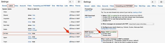 BackUp GmailのGmail側の設定2