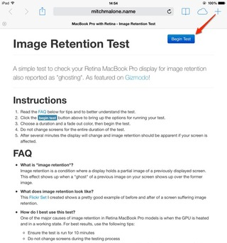 Image Retention Test-1