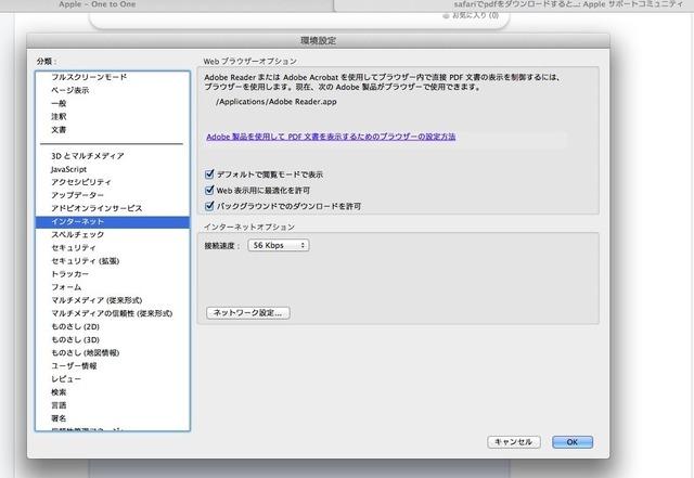 Adobe Raderのインターネット環境設定
